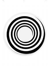 Black Spiral One Day Contact Lenses